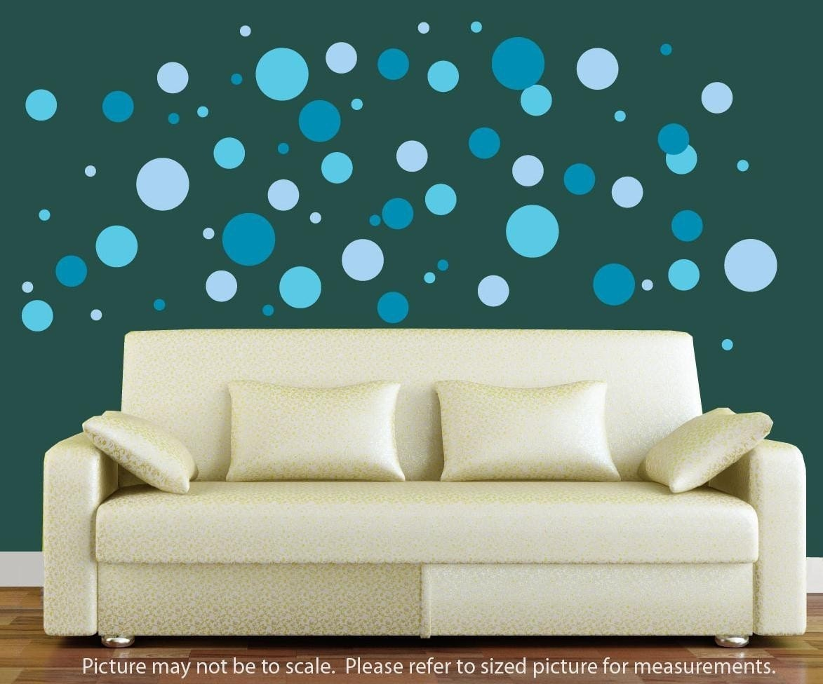 polka dot wall decal 3 color wall decal dots dot wall. Black Bedroom Furniture Sets. Home Design Ideas