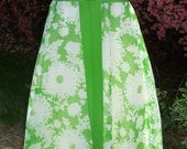 Vintage 1960s maxi dress, dilly green floral, size 10 - 12, Miss Ellette of California, JUST REDUCED
