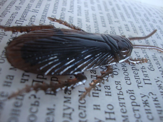 Disgusting Creepy Cockroach Brooch Pin