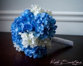 Wedding Bouquet Blue and White Hydrangea Bridal Bouquet