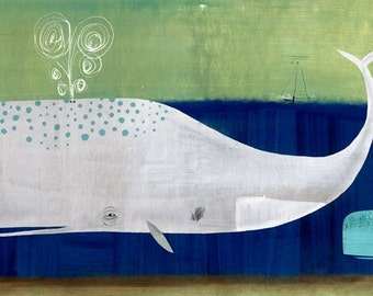 Two Whales Print