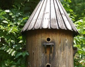 Rustic Round Bird Wood House 5x7 Fine Art Photographic Print Gift Under 10 Home Decor