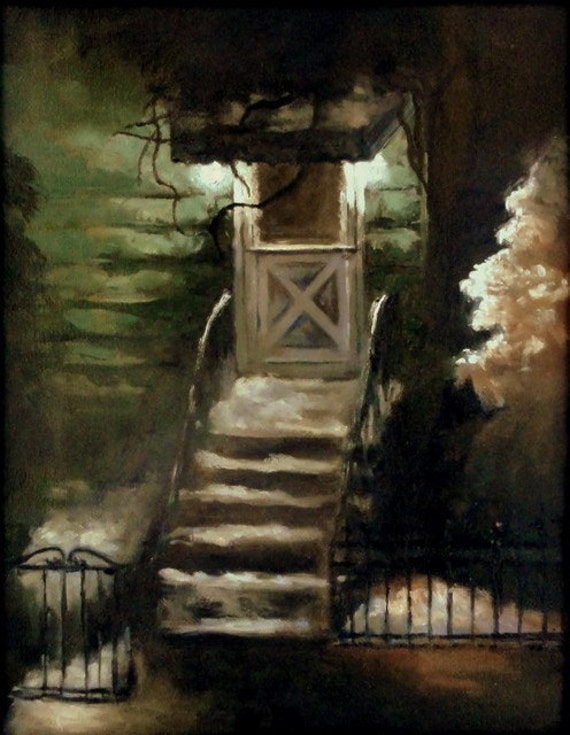 Oil Painting,-Brooklyn Nocturne-, Framed original painting