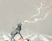 Deer Lady // A3 print