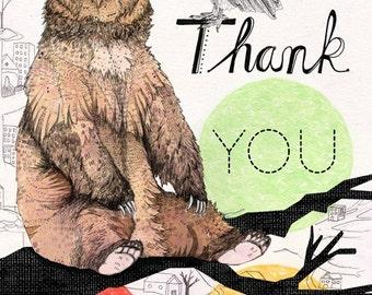 Thank You Bear Greeting card