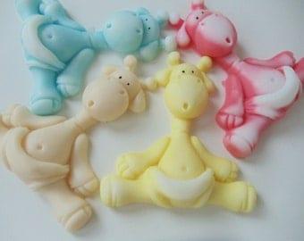 35 GIRAFFE SOAP - baby shower favors, baby sprinkle favors, jungle favor, animal soap