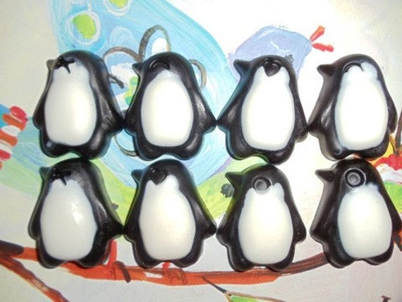 30 penguin soap birthday party favor baby shower favor