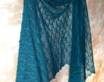 Teal Blue Linen Scarf Bridesmaid Shawl Beach Weddings Scarf Knitted Lace Shawl Bridesmaids Gifts Gauzy Stole Peacock Lace Scarf