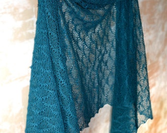 Teal Blue Linen Scarf Bridesmaid Shawl Beach Weddings Scarf Lace Shawl Bridesmaids Gifts Gauzy Stole Peacock Lace Scarf