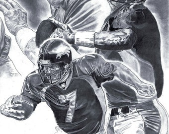 John Elway of Denver Broncos Art poster