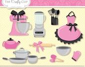 SALE! Kitchen Coquette - Clipart Set