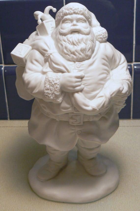 White Bisque Santa Claus
