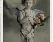 Digital Download  Sweet Cupid vintage photo