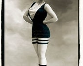 Snazzy Bathing Suit,  Swimmer vintage photo,photograph digital download