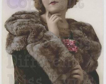 The Coat, Beautiful woman in a stunning coat,  photo, digital download