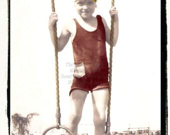 Athletic Swimmer Girl,  vintage photo DIGITAL download