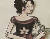 """Snow White Jointed Paper Doll 11"""""""