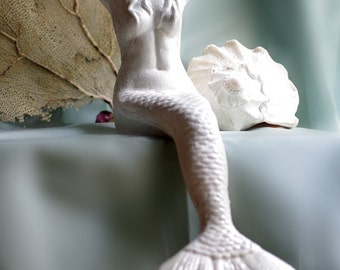 Beach Decor Cast Iron Mermaid - Large Mantel Size - PICK YOUR COLOR