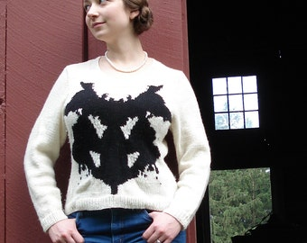 PDF  Rorschach Sweater Knitting Pattern Instant Download