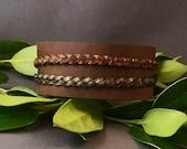 Brown Leather Cuff (Braid Vintage)