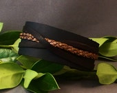 Black Leather Cuff, Leather Bracelet, Thick Cuff, Wide Bracelet, Black Leather Wristband, Men Cuff, Women Cuff, Men's Bracelet,Gift for Him