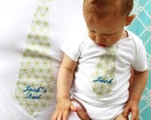 Baby Boy Baby's 1st Easter, Birthday Outfit Personalized Set for Daddy and Baby.  New Dad New Baby Gift Spring Wedding