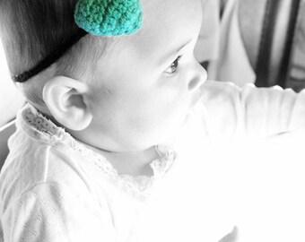 12 to 24m Green Baby Headband Love Heart Plush Skinny Headband - Baby Girl Headband Green Heart Photo Prop Green Headband Costume  Baby Gift