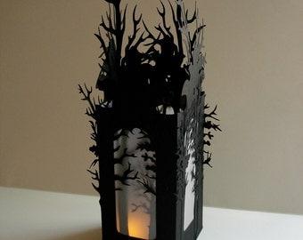 Halloween Luminaries Set of 2 Halloween Decorations - Haunted Forest Luminaries in Black