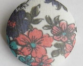 Flower Brooch - Covered Button