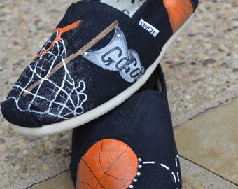 Basketball Spirit Custom TOMS Shoes