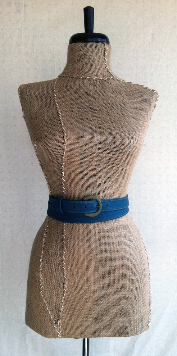 Double Wrap Belt- Teal Leather