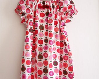 Retro Party Baby and Toddler Dress  - Eco Friendly cotton girl Dress - 100 % Designer Cotton - Fully Lined