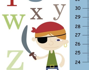 Personalized Baby Growth Chart  - ABC Pirate