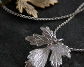 Silver Leaf Pendant Necklace, Grecian Inspiration, Silver Wedding Necklace, Autumn Weddings, Grecian Jewelry, Leaf Necklace, Gift for Her