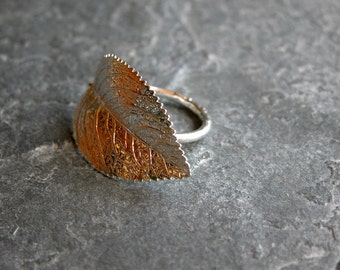 Gift For women, Leaf Jewelry, Leaf Ring, Silver Ring, Silver Leaf Ring ,Cocktail Ring , Statement Ring, Leaf Jewelry Set