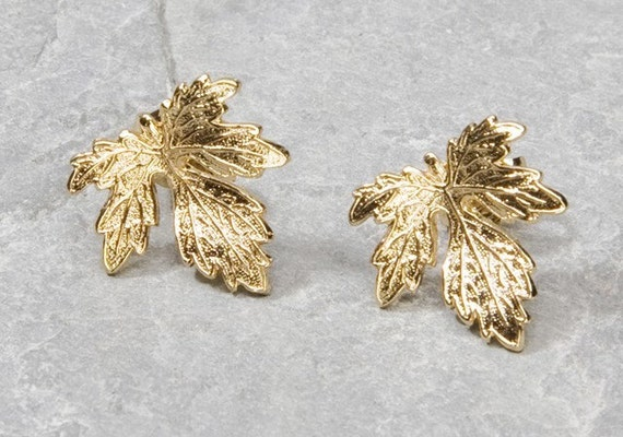 Gold Leaf Jewelry Jewelry Earring Gold Studs