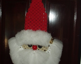 Macrame Holiday Santa