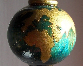 Earth Wooden Christmas Ornament