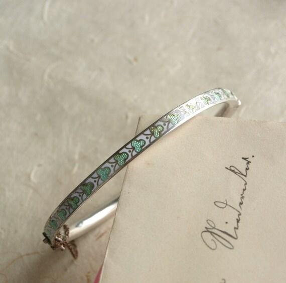 Vintage, Original, Bangle, Bracelet, Silverfill 800, Enamel, around 1900