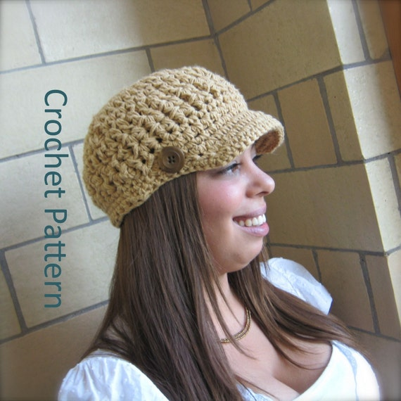 Crochet Patterns For Hats With Brims For Men Crochet Hat Pattern Brim