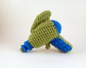 Crochet Raygun in Green and Blue - Baby's First Raygun