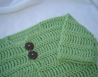PDF Crochet Pattern - Cade Baby Sweater (newborn - 3 mos) (permission to sell finished item) - Instant Download