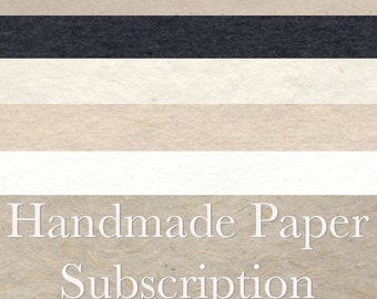Handmade Paper Subscription - 6 months