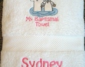 LDS Baptism Towel for Girls