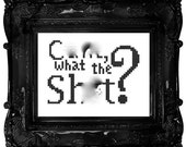 MATURE cross stitch pattern: C-word what the S-word