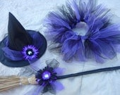 Tutu Witch Costume - Purple and Black - Infant / Toddler