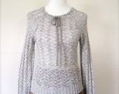 SALE Vintage Sweater / 70's Open knit / Small