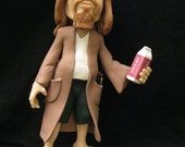 The Dude from the Big Lebowski polymer clay sculpture OOAK sculpt figure Jeff Bridges Coen Brothers