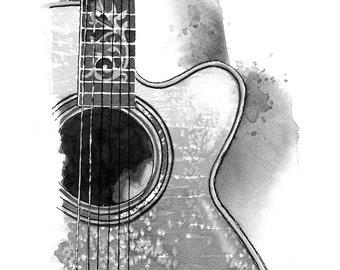 Acoustic Guitar - print