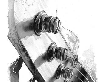 Bass Guitar - print